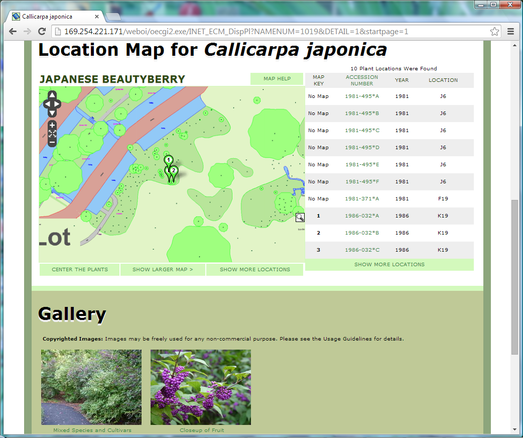 Plant Site Map Examples: Add BG-Map To Your Website With